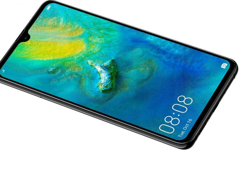 Huawei Mate 20 notch design