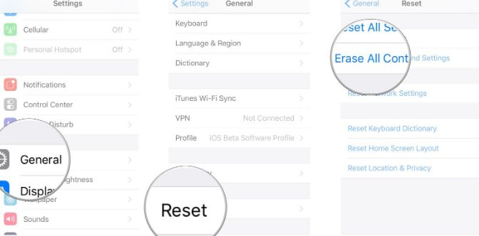 factory reset an iPhone X using settings menu