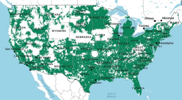 T-mobile coverage map - thephoneplans.com